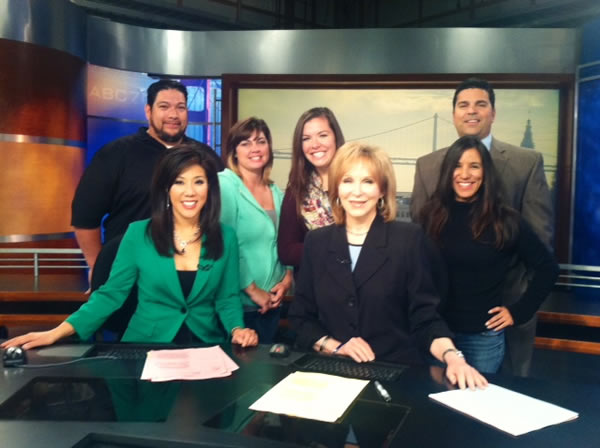 The Taylor Family Foundation crew pays a visit to ABC7 studios! <span class=meta>(KGO)</span>