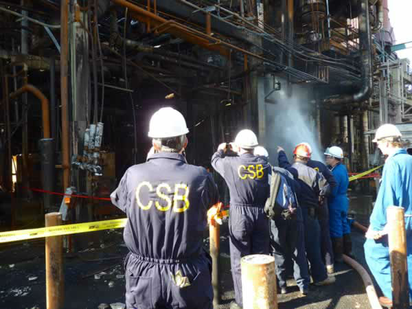 "<div class=""meta ""><span class=""caption-text "">The Chemical Safety Board released photos of the damage from the August 6 Chevron Refinery fire. (Photo/CSB)</span></div>"