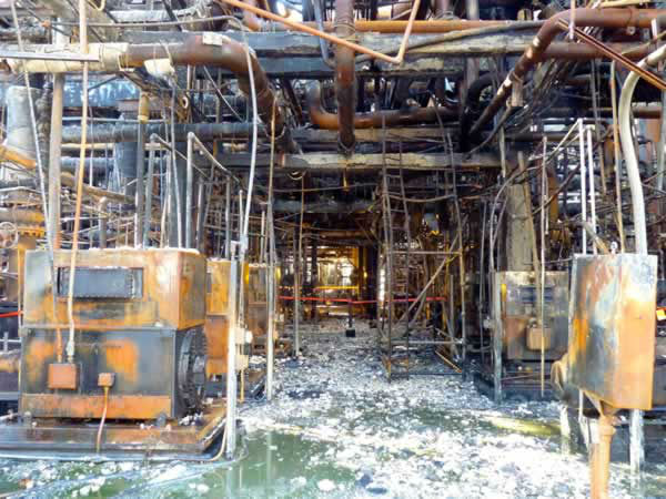 "<div class=""meta image-caption""><div class=""origin-logo origin-image ""><span></span></div><span class=""caption-text"">The Chemical Safety Board released photos of the damage from the August 6 Chevron Refinery fire. (Photo/CSB)</span></div>"