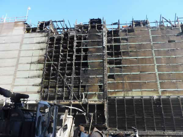 The Chemical Safety Board released photos of the damage from the August 6 Chevron Refinery fire. <span class=meta>(Photo&#47;CSB)</span>