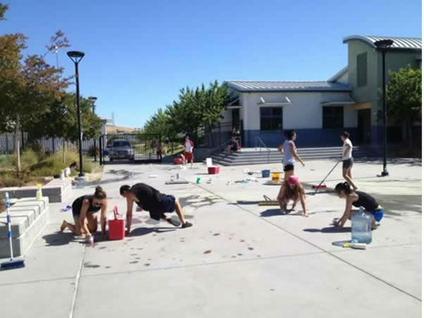 Last Thursday, seniors at Heritage High thought they&#39;d have a little fun with some paint, among other things. <span class=meta>(KGO Photo&#47; KGO)</span>