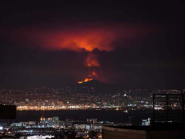 "<div class=""meta ""><span class=""caption-text "">A wildfire burning on Mount Diablo seen from miles away at night. (Photo submitted via Twitter from @karlfrankowski)</span></div>"