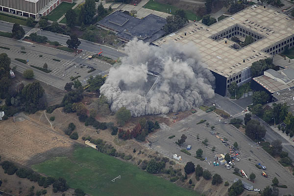 "<div class=""meta ""><span class=""caption-text "">Cal State East Bay's Warren Hall implosion (Courtesy: Brian Haux ? SkyHawk Photography)</span></div>"