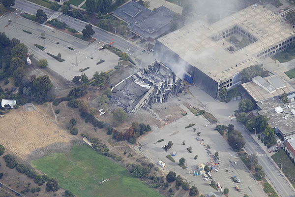 Cal State East Bay&#39;s Warren Hall implosion <span class=meta>(Courtesy: Brian Haux ? SkyHawk Photography  )</span>