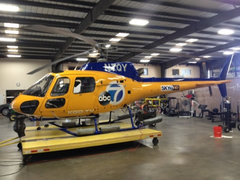 "<div class=""meta ""><span class=""caption-text "">Sky7 HD, the first helicopter in the Bay Area to transmit in   high-definition, gets a makeover!  The Creatis Group recently put   new graphics on ABC7's helicopter.</span></div>"
