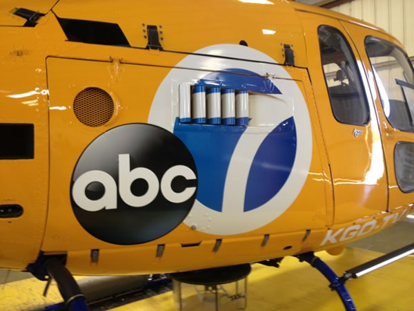 Sky7 HD, the first helicopter in the Bay Area to transmit in   high-definition, gets a makeover!  The Creatis Group recently put   new graphics on ABC7's helicopter.