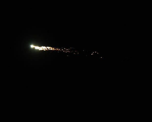Bob Moreno took these images of the possible meteor just outside of Santa Rosa.