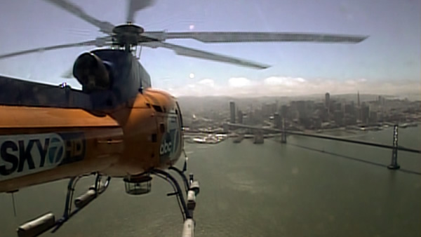 SKY7 HD on its way to a breaking news situation in San Francisco on July 31, 2013. <span class=meta>(KGO)</span>
