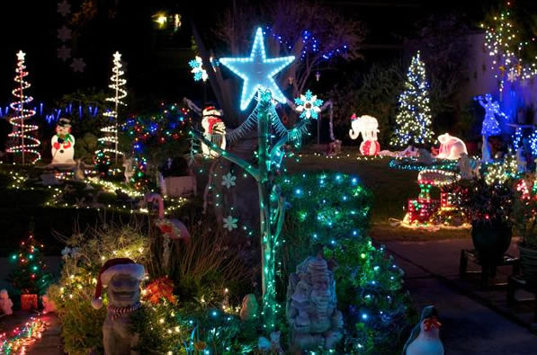 "<div class=""meta ""><span class=""caption-text "">For 13 years now we've made Campbell a much brighter place for the holidays. Over 47,000 lights adorn two 4-plex apartment buildings. We encourage people to park their car and come inside to see the magic of our winter wonderland. It's at 595 Nido, Campbell, CA 95008.   (Photo submitted by Debi Phelps via uReport) </span></div>"