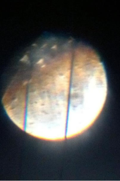 Many viewers all around the Bay Area sent in their photos of Saturday night's supermoon. This viewer said they took this photo through their son's telescope. (Photo submitted by a viewer via uReport)