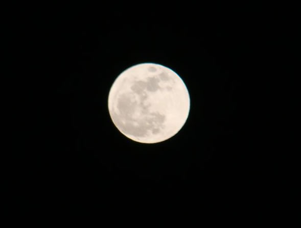 Many viewers all around the Bay Area sent in their photos of Saturday night's supermoon. This photo was taken in Santa Rosa.  (Photo submitted by Leslie P. via uReport)