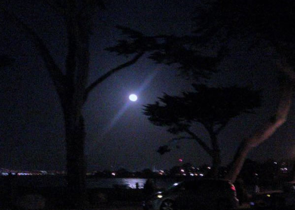 Many viewers all around the Bay Area sent in their photos of Saturday night's supermoon. This photo was taken in Monterey. (Photo submitted by a viewer via uReport)