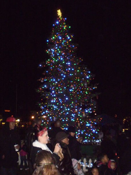 Photos taken at Vallejo's Mad Hatter Christmas Parade, tree lighting, and boat parade 12-4-2010. Tree located at the Ferry Terminal in Downtown Vallejo.  (Photo submitted by Jeanette F. in Vallejo via uReport)
