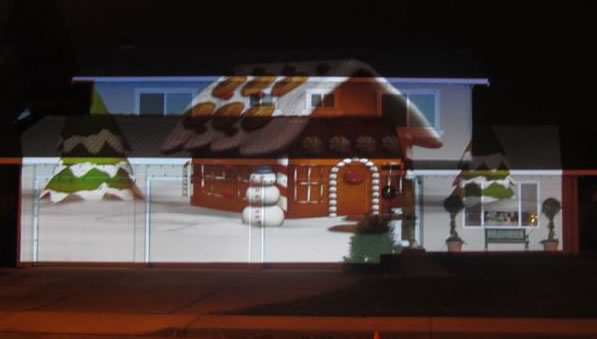 One projector, one house, and one month of hard back breaking labor to create this amazing marvel of technology and holiday spirit.  Christmas 2.0 and Project Small World. Now showing in Morgan Hill.  (Photo submitted by Lynn via uReport)
