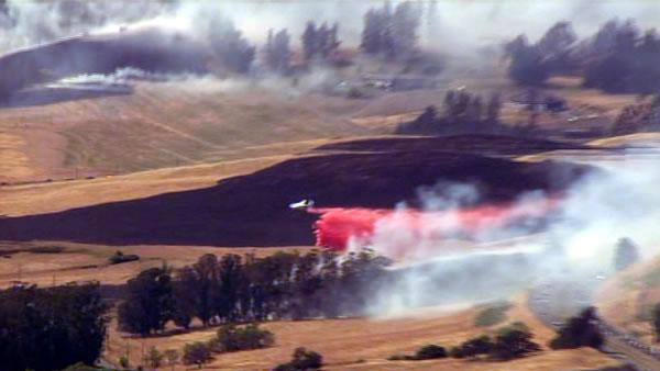 Multiple brush fires burning in Sonoma County