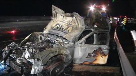 CHP cruiser fire