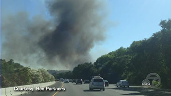 Five-alarm fire burned near I-80 in Vacaville