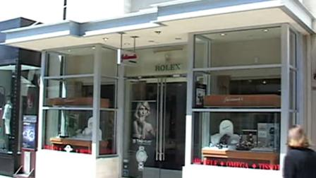 Three men robbed  a Corte Madera jewelry store at gunpoint Saturday morning.