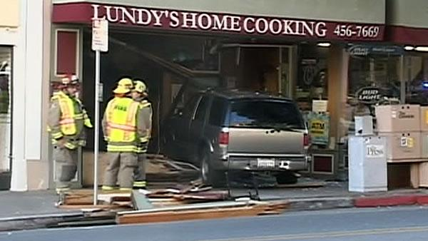 Driver hits pedestrian, slams into restaurant