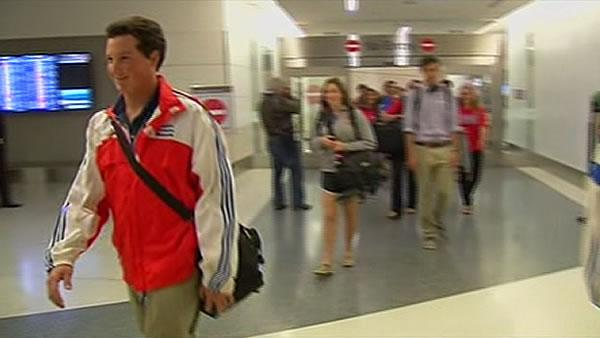 Parents welcome home baseball teams from Cuba