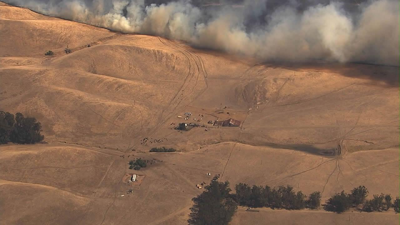 Vegetation fire near Fairfield