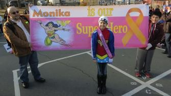 10-year-old Vallejo cancer patient Monika turns into Wonder Girl for the day.
