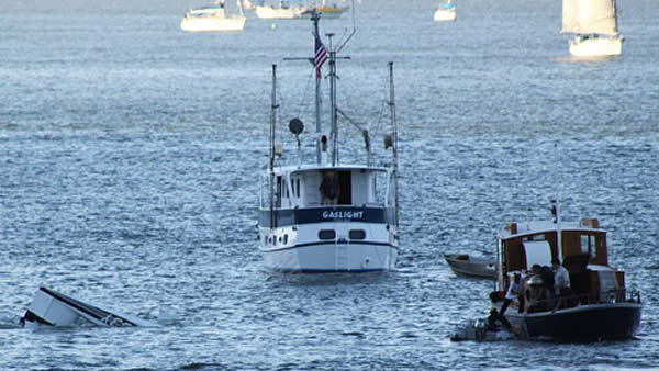 "<div class=""meta ""><span class=""caption-text "">These are photos of Friday night's plane crash in Richardson Bay near Sausalito. The men were rescued by a boat passing by. (Photo submitted by Jennifer Franake and Mark Kahn)</span></div>"