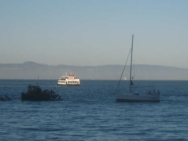 "<div class=""meta ""><span class=""caption-text "">These are photos of Friday night's plane crash in Richardson Bay near Sausalito. The men were rescued by a boat passing by.  (Photo submitted by John and Lily Mark)</span></div>"