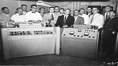 On April 14, 1956 a small Bay Area company called Ampex unveiled the first video tape recorder.
