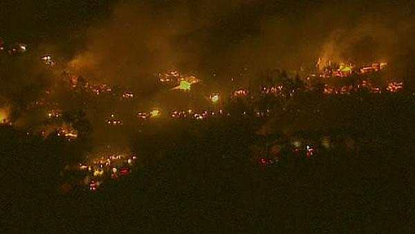 large flames in San Bruno from Sky7HD