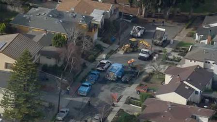 Some residents on the 500 block of Chestnut Avenue in San Bruno are being evacuated due to a gas line break.