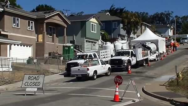 PG&E plugging remains of San Bruno gas pipeline