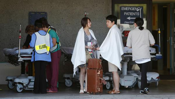 Asiana Airlines Flight 214 survivors at SF General.