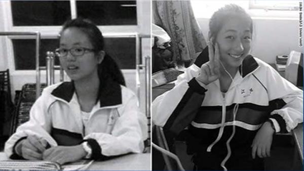 Crash victims Wang Linjia and Ye Mengyuan