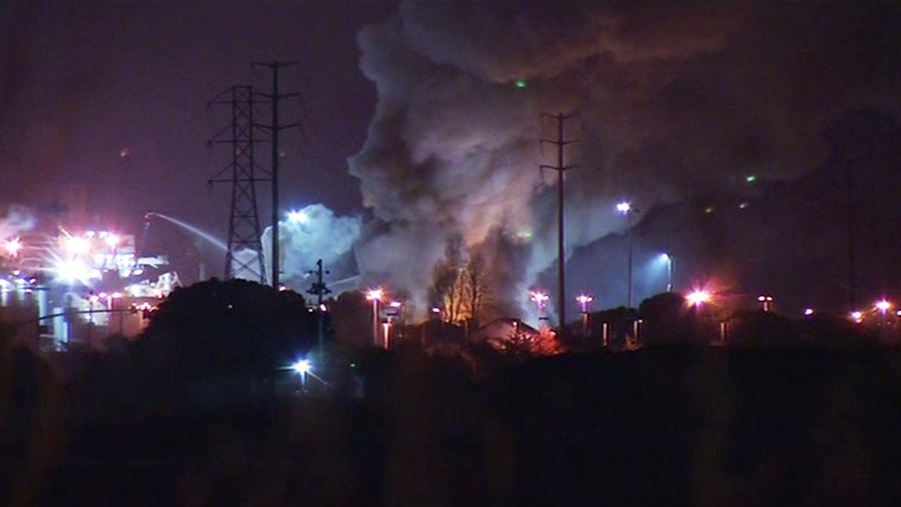 Sims Metal Recycling plant fire
