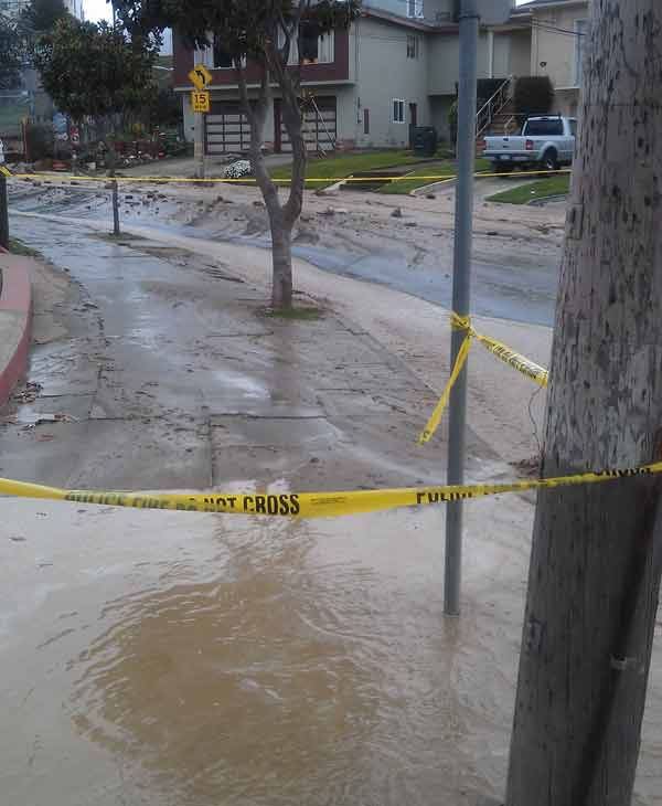 Water main break in South San Francisco  <span class=meta>(KGO)</span>
