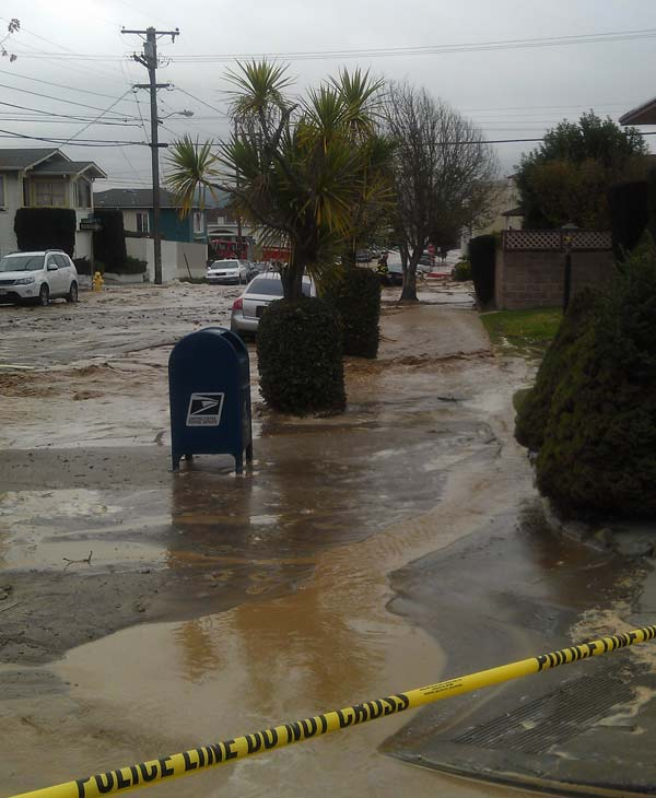 Water main break in South San Francisco