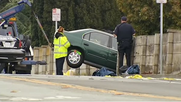 "<div class=""meta ""><span class=""caption-text "">The crash happened on Hillside Boulevard in Colma at 7:30 a.m.  Three were  pronounced dead at the scene. The San Mateo Coroner's Office released the names as Rosa Maria Falla, 23, Jonathan Jade Moulton, 21, and Ruvin Abel Vazquez, 22. (KGO)</span></div>"