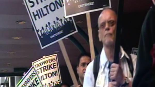 SF Hilton Hotel workers start 6-day strike
