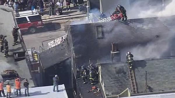 Firefighters battle stubborn Mission District blaze