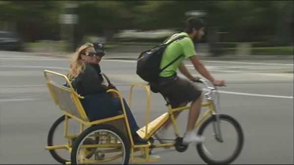 Pedicab companies feud over permits, licenses