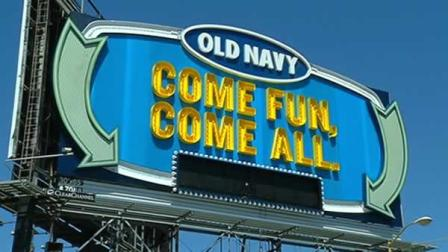 Old Navys new billboard on the I-80 approach to the Bay Bridge in San Francisco