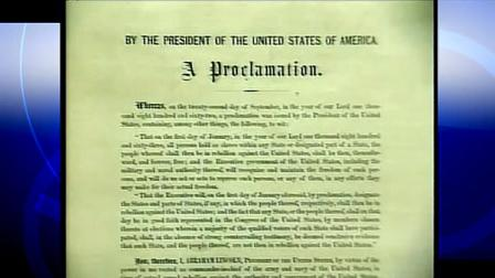 copy of Abraham Lincolns Emancipation Proclamation