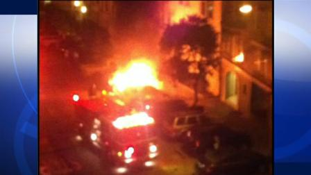 Car explosion in Russian Hill