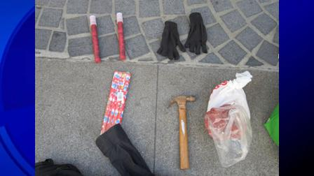 Items confiscated from protesters by SF police