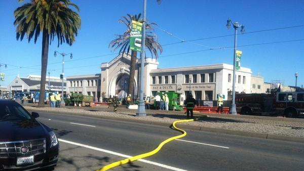 Gas leak prompts brief closure of Embarcadero