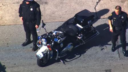 A San Francisco police motorcycle officer was injured in a crash  in the citys South of Market neighborhood Monday morning.