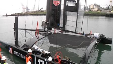 Oracle Team USA catermaran in the San Francisco Bay