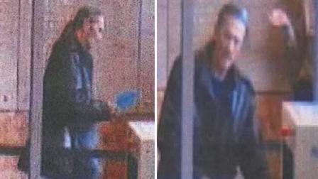 Surveillance images show the man suspected of stealing a foster mothers diaper bag from the Hall of Justice in San Francisco.