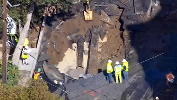 Repair work continues after SF water main break